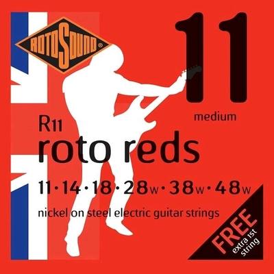 Rotosound R11 Roto Reds Nickel Plated .011-.048 R/W Medium