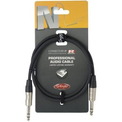 Stagg NAC6PSR Jack Stereo Mâle 6.3mm / Jack Stereo Mâle 6.3mm, 6m