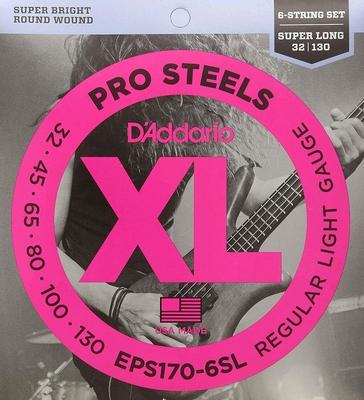 D'Addario EPS170-6SL Pro Steels .032-.130 Long Scale Regular Light