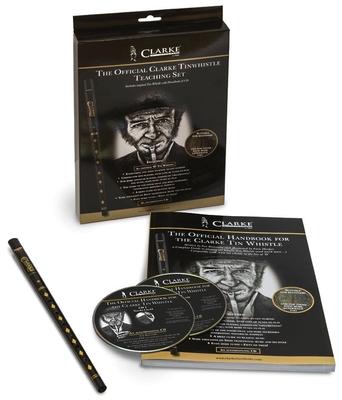 Clarke Tin Whistle Flûte irlandaise The Original noir en D avec méthode en anglais CD