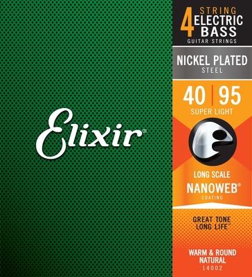 Elixir 14002 Nanoweb Long Scale Super Light 040-095