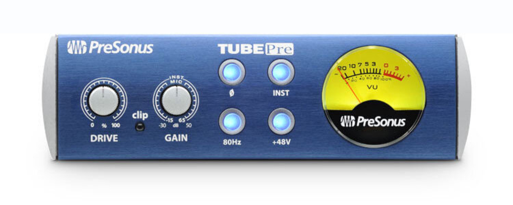 Presonus TubePre V2 1-Channel Tube Microphone/Instrument Preamplifier (1/3 19»)