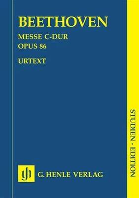Ludwig van Beethoven: Mass C major op. 86 / Beethoven, Ludwig Van (Composer) / Henle Verlag