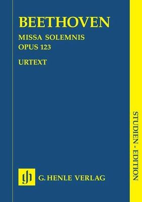 Missa Solemnis In D Op.123 / Beethoven, Ludwig Van (Composer); Gertsch, Norbert (Editor) / Henle Verlag