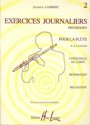 Exercices journaliers progressifs 2e et 3e cycles / Lambert Georges / Henry Lemoine