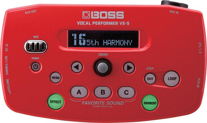 Boss VE-5-RD VE-5 Red