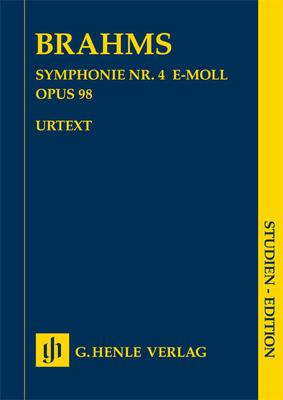 Henle Urtext Editions / 4ème symphonie op.98 en mi mineurSymphony No.4 In E Minor Op.98Symphony no. 4 in e minor op. 98 / Brahms Johannes / Henle