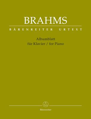 Bärenreiter Urtext / Albumblatt für Klavier / For PianoAlbumblatt / Johannes Brahms / Bärenreiter