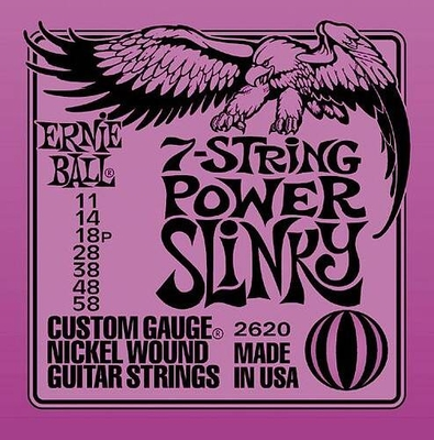 Ernie Ball 2620 Nickel Wound 7 Strings .011-.058 Power Slinky