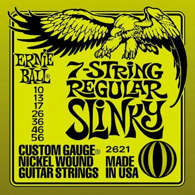 Ernie Ball 2621 Nickel Wound 7 Strings .010-.056 Regular Slinky