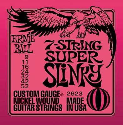 Ernie Ball 2623 Nickel Wound 7 Strings .009-.052 Super Slinky
