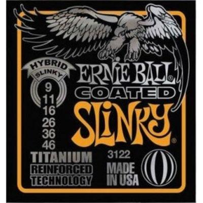 Ernie Ball 3122 Coated Titanium .009-.046 RPS Hybrid Slinky