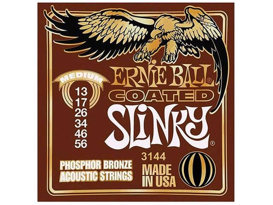 Ernie Ball EB3144 Phosphor Bronze Coated Medium 013-056
