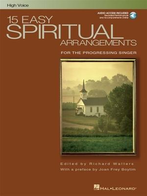 15 Easy Spiritual Arrangements (High Voice) / Walters, Richard (Editor) / Hal Leonard