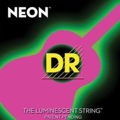 DR Strings NPA-12 Neon hidef Pink coated acoustique.