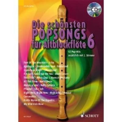 Die Schönsten Popsongs für AltBlockflöte 6 /  / Schott