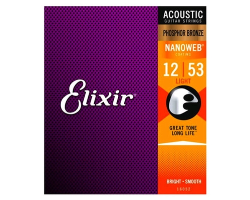 Elixir Acoustic, Nanoweb Phosphor Bronze Light 012-053