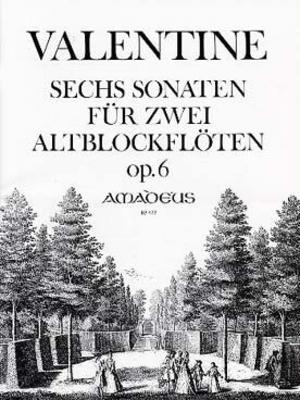 BP 422 6 sonates pour flûte à bec alto op. 6 / Valentine Robert  / Amadeus