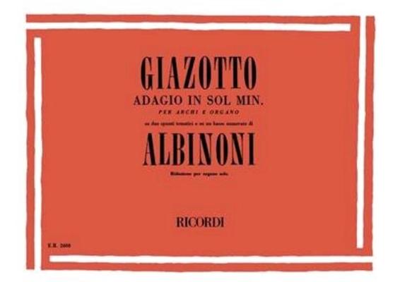 Adagio  / Tomaso Albinoni / Ricordi