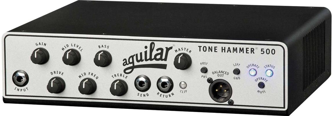 Aguilar TH500 Tone Hammer 500 un canaux 500W argent