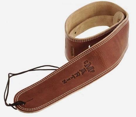 Martin & Co Sangle cuir Suede 64mm, brun