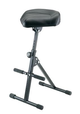 K & M 14046/14047 Pneumatic stool – black leather