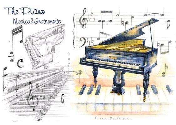 Music Sales Carte de Voeux piano et notes
