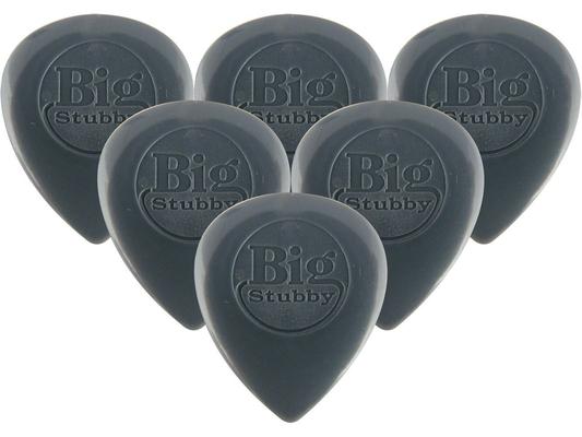 Dunlop 445P3.0 Sachet de 6 pièces Nylon Big Stubby Dark Grey 3.00