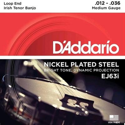D'Addario Tenor Banjo-Irish 4 Strings .012 – .036 Nickel Wound Loop End