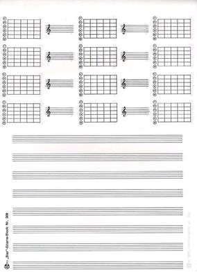 Bloc Note Guitare /  / STAR Notenschreibpapiere