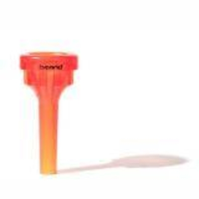 Brand Mouthpieces 12C Medium Embouchure plastique pour trombone/cor, avec TurboBlow, rouge orange