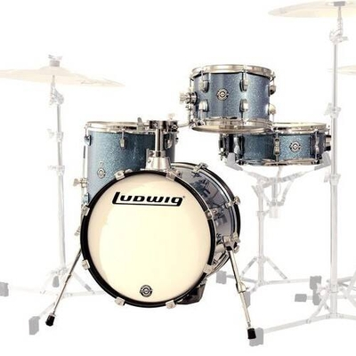 Ludwig LC179X023 Breakbeats by Questlove Assura Sparkle 4 pces BD16x14» tom 10×7» Floor tom 13×13» snare 14×5» sans hardware