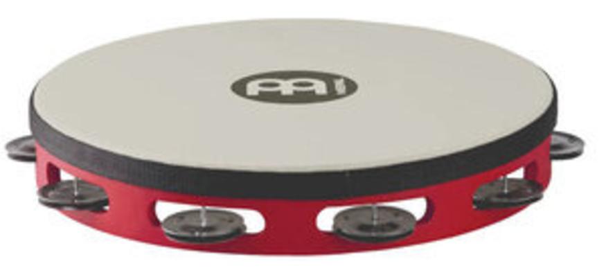 Meinl TAH1BK-R-TF Wood Hand Tambourine, red black Steel Jingle