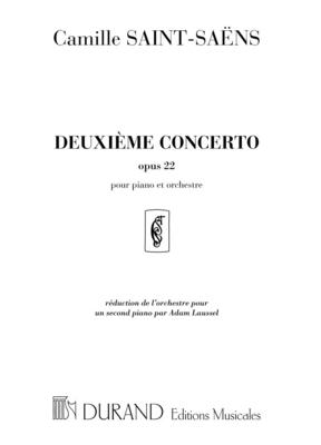 Deuxième Concerto Opus 22 réduction pour 2 pianos de A. Laussel Camille Saint-Sans  Editions Durand 2 Pianos Recueil / Camille Saint-Sans / Durand
