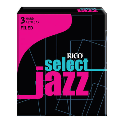 Rico RSF10ASX3H Sel. Jazz, Sax alto, filed 3H, boîte de 10