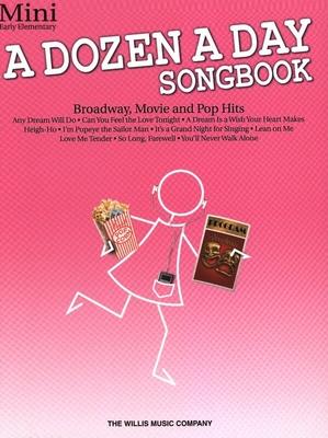A Dozen a Day / A Dozen a Day Minibook    Willis Music Piano Recueil + Enregistrement(s) en ligne A Dozen a Day TV, Film, Comédie musicale /  / Willis Music