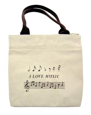 Music Sales Ltd Mini Cotton Tote Bag With »I Love Music» Design