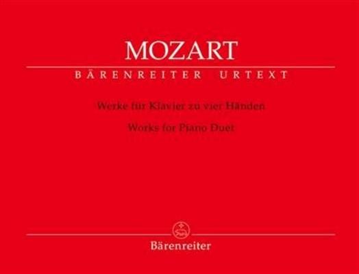 Werke für klavier zu vier Händen  / Wolfgang Amadeus Mozart Wolfgang Rehm / Bärenreiter