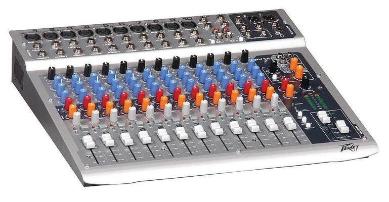 Peavey PV 14 USB  10 XLR mono channels w/Insert, 2 Stereo channels, 3-band EQ, 48V phantom, USB