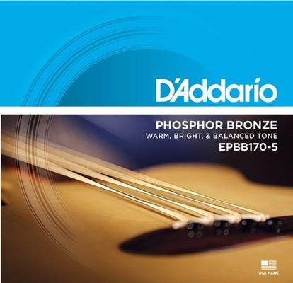 D'Addario EPBB170-5 Long Scale Phosphore Bronze .045-.130