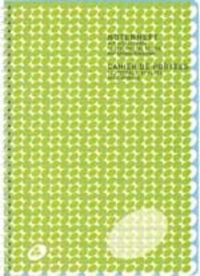 SCA002 Cahier de portées 12 par page 80 pages avec spirales /  / Hug Siestrop