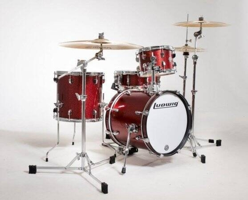 Ludwig Breakbeats By Questlove 4 pces BD16x14» tom 10×7» Floor tom 13×13» snare 14×5» sans hardware, Wine Red Sparkle
