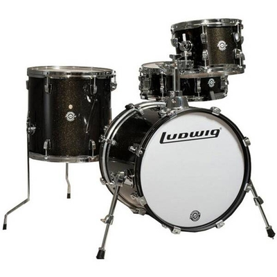 Ludwig Breakbeats By Questlove 4 pces BD16x14» tom 10×7» Floor tom 13×13» snare 14×5» sans hardware, Black Gold
