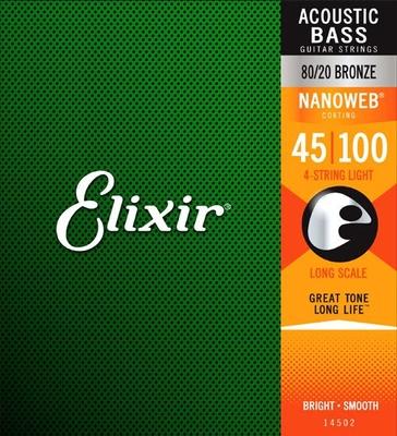 Elixir 14502 Acoustic Basse Medium 045-100