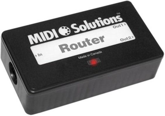Midi Solution Router 2 output MIDI Message Router