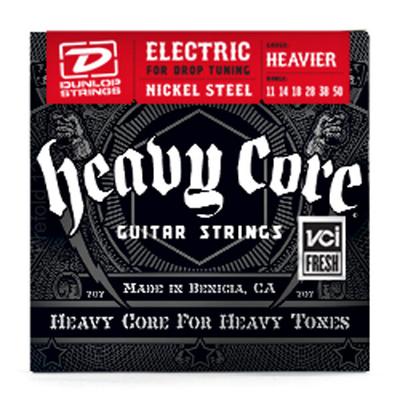 Dunlop Heavy Core Nickel Steel for Drop Tuning .011-.050 Heaviest