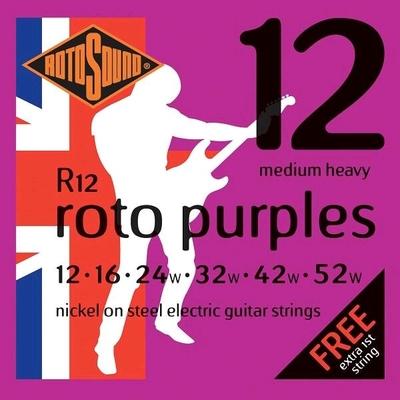 Rotosound R12 Roto Purples Nickel Plated .012-.052w (G.024w) R/W Heavy