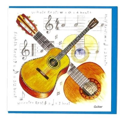 Music Sales Ltd Little snoring notelets agtr 5pk Little snoring notelets agtr 5pk Guitar Design