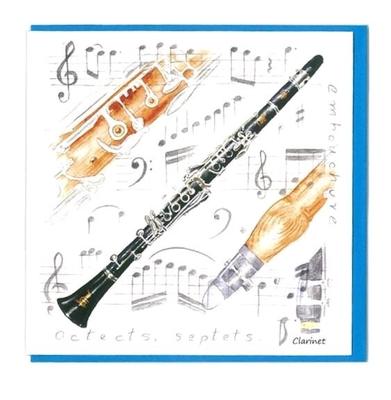 Music Sales Ltd Little snoring notelets CLT 5PK Little snoring notelets CLT 5PK Clarinet Design
