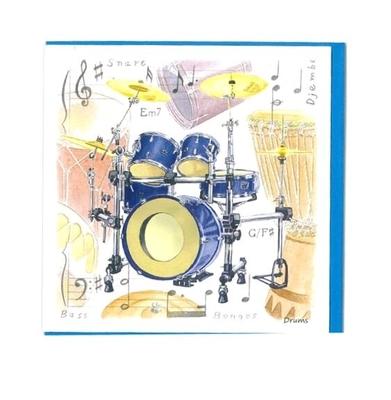Music Sales Ltd Little snoring notelets drums 5pk Little snoring noteletsdrums 5pk Drum Design